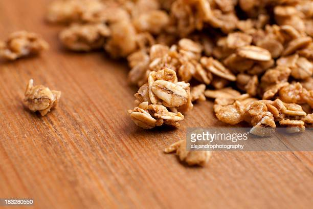 Honey roasted granola clusters