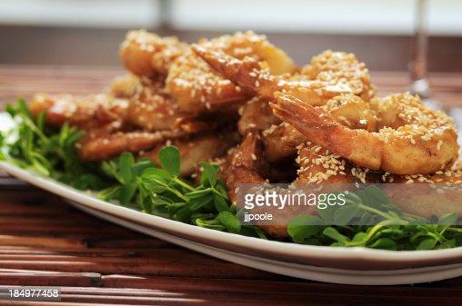 Honey, Sesame, Prawns, Homemade