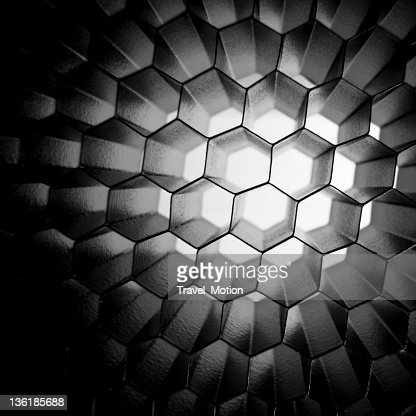 Honeycomb grid mesh background