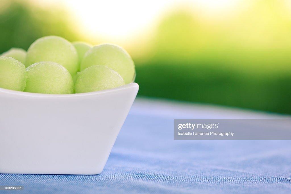 Honeydew melon balls