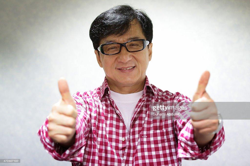 Hong actor and director, <a gi-track='captionPersonalityLinkClicked' href=/galleries/search?phrase=Jackie+Chan&family=editorial&specificpeople=171455 ng-click='$event.stopPropagation()'>Jackie Chan</a> poses for a photo prior to the launch of a new mobile anti-drug game application, Aversion at Nanyang Polytechnic on May 7, 2015 in Singapore. <a gi-track='captionPersonalityLinkClicked' href=/galleries/search?phrase=Jackie+Chan&family=editorial&specificpeople=171455 ng-click='$event.stopPropagation()'>Jackie Chan</a> was named Singapore's first celebrity anti-drug ambassador.