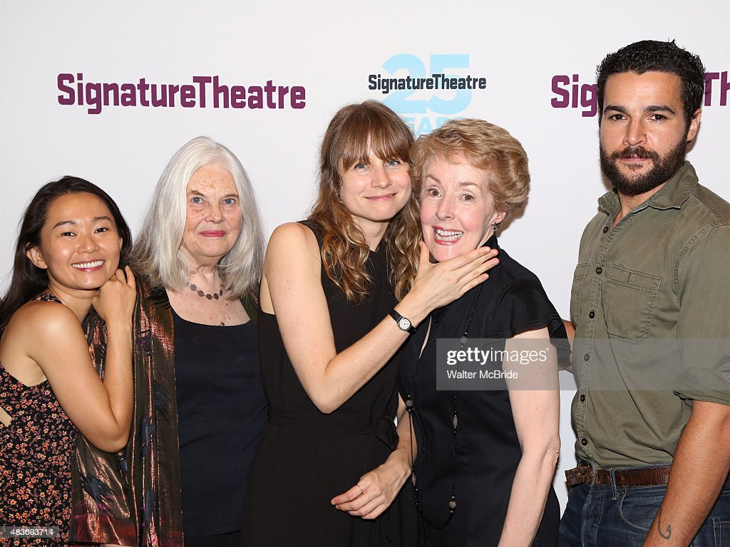 Hong Chau Lois Smith Annie Baker Georgia Engel and Christopher Abbott attend the opening night party for 'John' at Signature Theatre Company's...