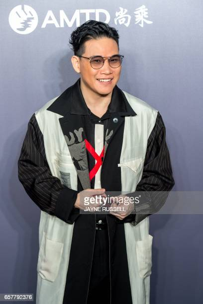 Hong Kong actor and Cantopop singer William So poses on the red carpet during the 2017 American Foundation for AIDS Research Hong Kong gala at Shaw...