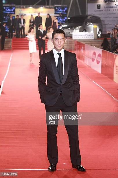 Hong Kong actor Daniel Wu arrives at the red carpet of the 46th Golden Horse Award at the Amazing Hall on November 28 2009 in Taipei Taiwan