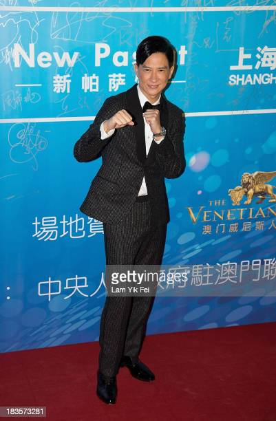 Hong Kong actor Nick Cheung poses on the red carpet during the 2013 Huading Awards Ceremony at The Venetian on October 7 2013 in Macau Macau