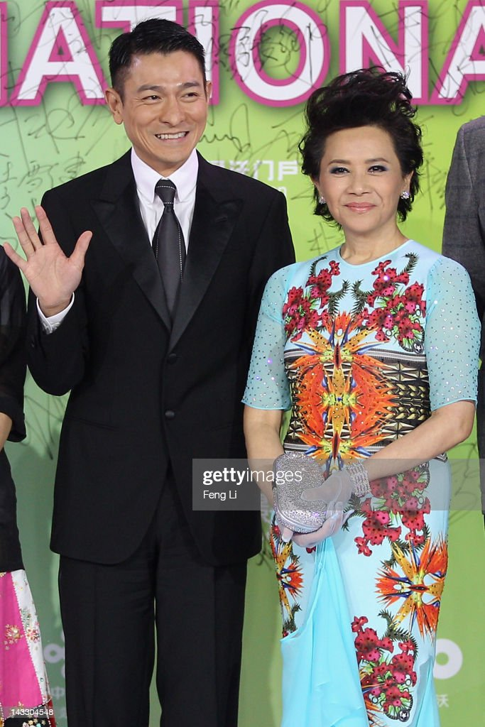 Hong Kong actors <a gi-track='captionPersonalityLinkClicked' href=/galleries/search?phrase=Andy+Lau&family=editorial&specificpeople=171171 ng-click='$event.stopPropagation()'>Andy Lau</a> (Left) and <a gi-track='captionPersonalityLinkClicked' href=/galleries/search?phrase=Deanie+Ip&family=editorial&specificpeople=8199708 ng-click='$event.stopPropagation()'>Deanie Ip</a> arrive for the red carpet of 2nd Beijing International Film Festival at China National Convention Center on April 23, 2012 in Beijing, China.