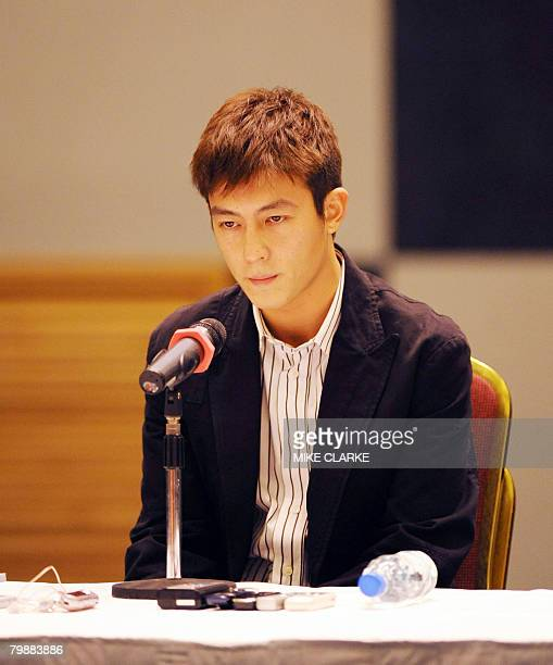 Hong Kong actorsinger Edison Chen faces the media at a hastily convened press conference in Hong Kong February 21 2008 At least seven stars have been...