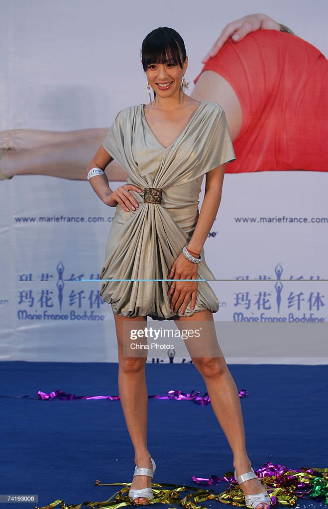 Hong Kong actress Christy Chung attends an opening ceremony of a fitness center of Marie France Bodyline on May 17, 2007 in Xian of Shaanxi Province, China.