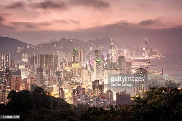 Hong Kong beautiful panorama view