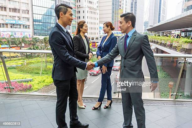 Hong Kong Business Handshake