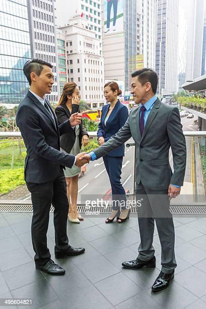 Hong Kong Business Handshake