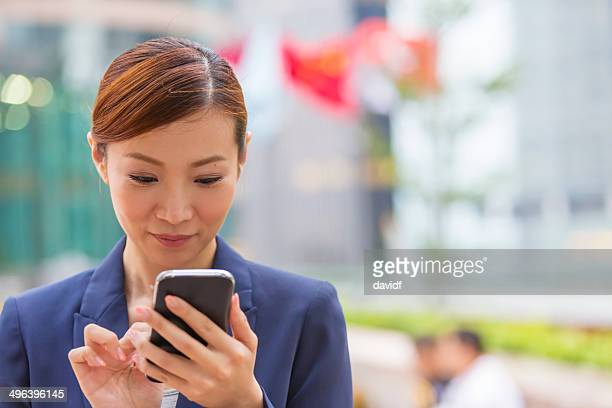 Hong Kong Business Woman Phone