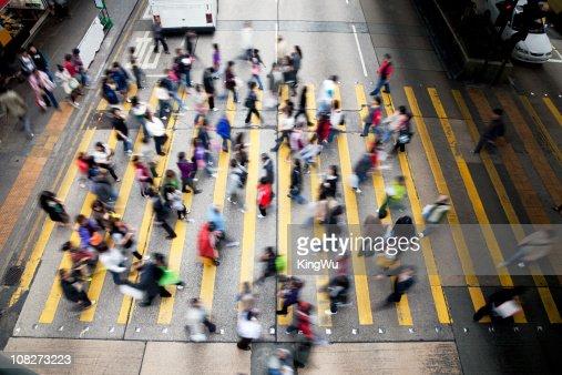 Hong Kong Busy Street. : Stock Photo
