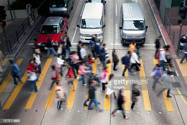 Hong Kong Busy Street.
