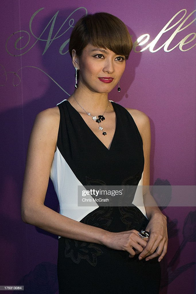 Hong Kong Cantopop singer and actress Gigi Leung arrives for the opening of the Cartier Naturellement Exhibition at the Cartier Flagship store at ION Orchard August 2, 2013 in Singapore.