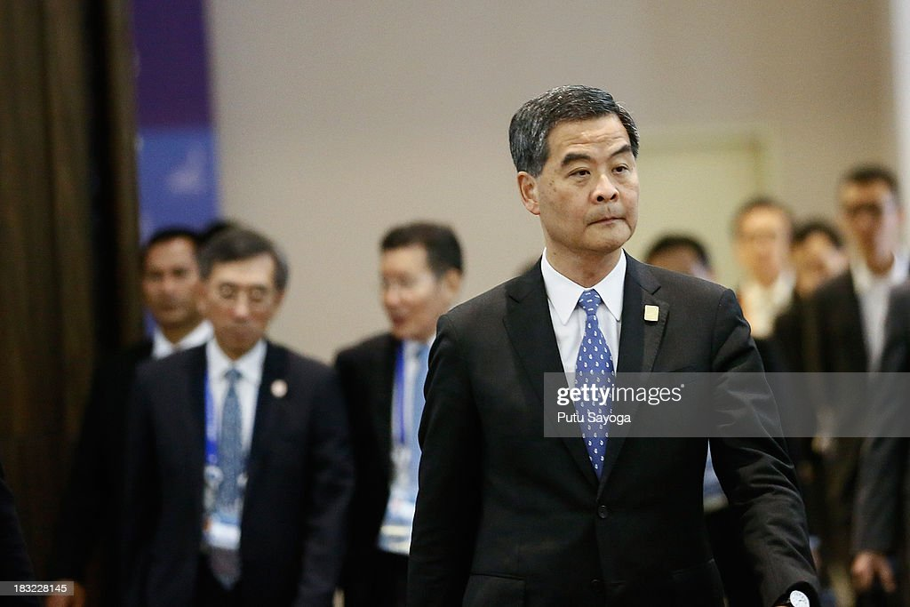 Hong Kong Chief Executive Leung Chun-ying arrives at the APEC Summit venue on October 6, 2013 in Nusa Dua, Indonesia.