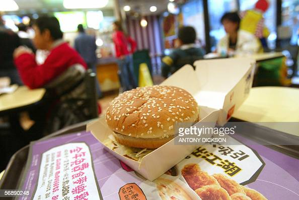 A big mac lays on a table waiting to be consumed at a Mcdonalds restraurant in Hong Kong 20 February 2006 Big Macs in Hong Kong contain more fat and...