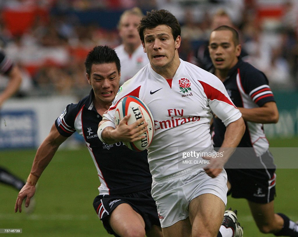 England player Danny Care runs for a try at the Cathay Pacific Credit Suisse Hong Kong Sevens in Hong Kong 30 March 2007 England beat Hong Kong 387...