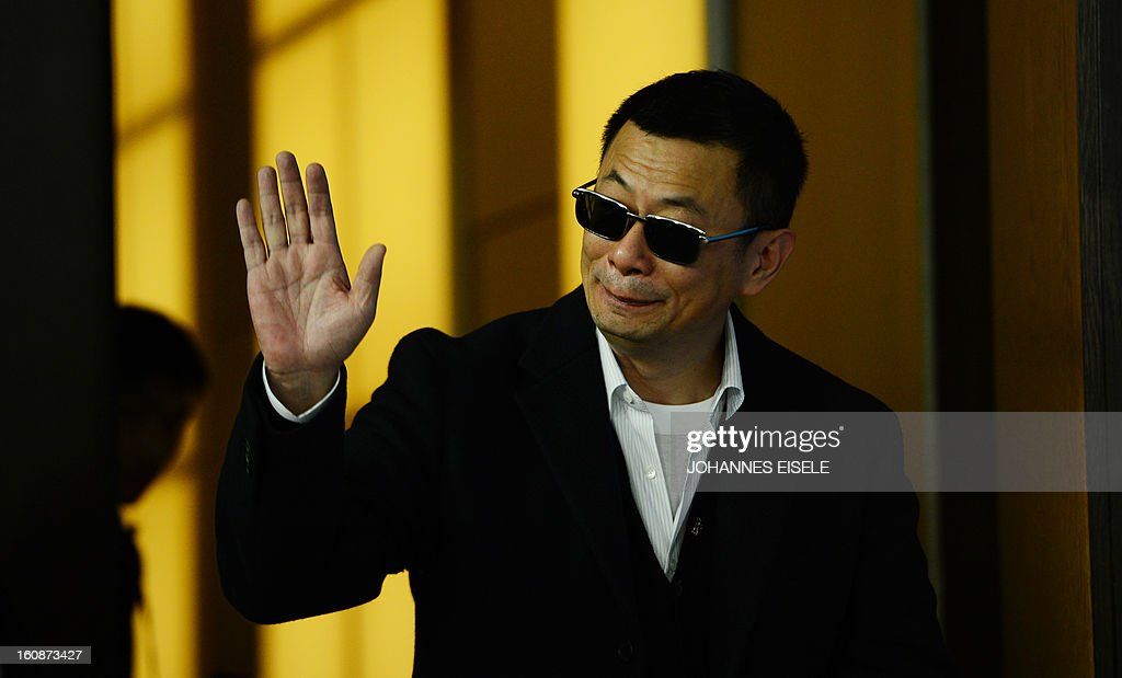 Hong Kong Chinese director Wong Kar-Wai, jury president of the 63rd Berlinale film festival, arrives for a press conference for his film 'Yi dai zong shi' (The Grandmaster) in Berlin, on February 7, 2013. The 63rd Berlin film festival opens with a gala screening of Chinese director Wong Kar Wai's martial arts epic about the mentor of kung fu superstar Bruce Lee. AFP PHOTO / JOHANNES EISELE