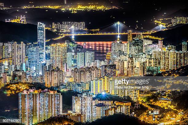 Hong Kong City overlook at night