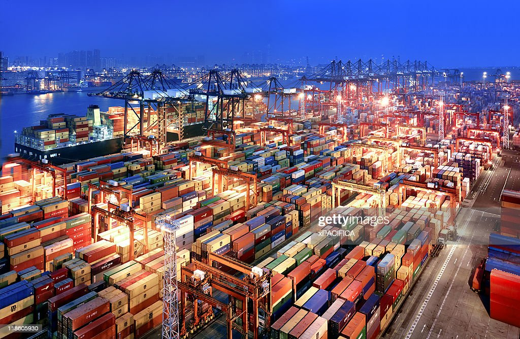 Hong Kong Container Terminal : Stock Photo