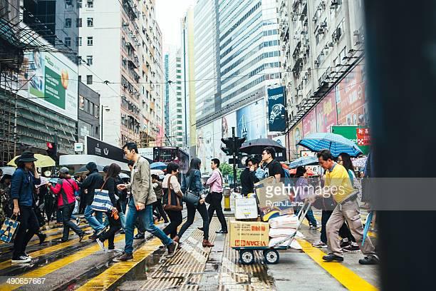 Hong Kong Fußgängerübergang