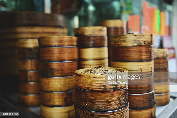 Hong Kong dim sum baskets