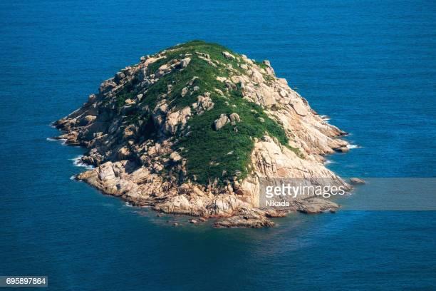 Hong Kong Dragon zurück wandern Blick auf einer Insel