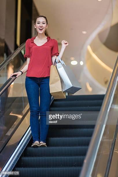 Hong Kong Escalator Woman