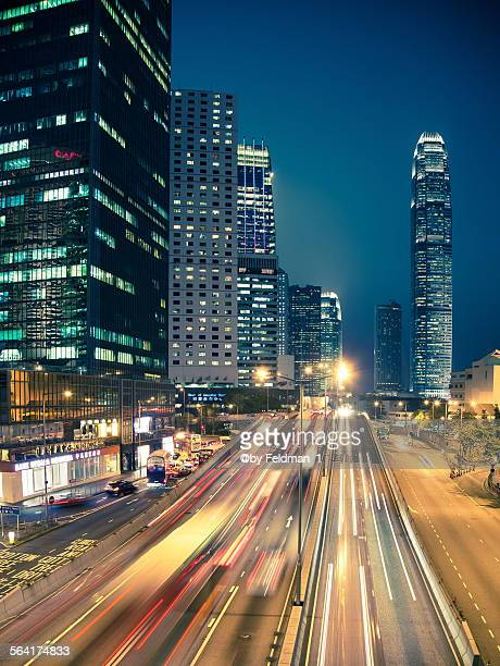 Hong Kong evening traffic