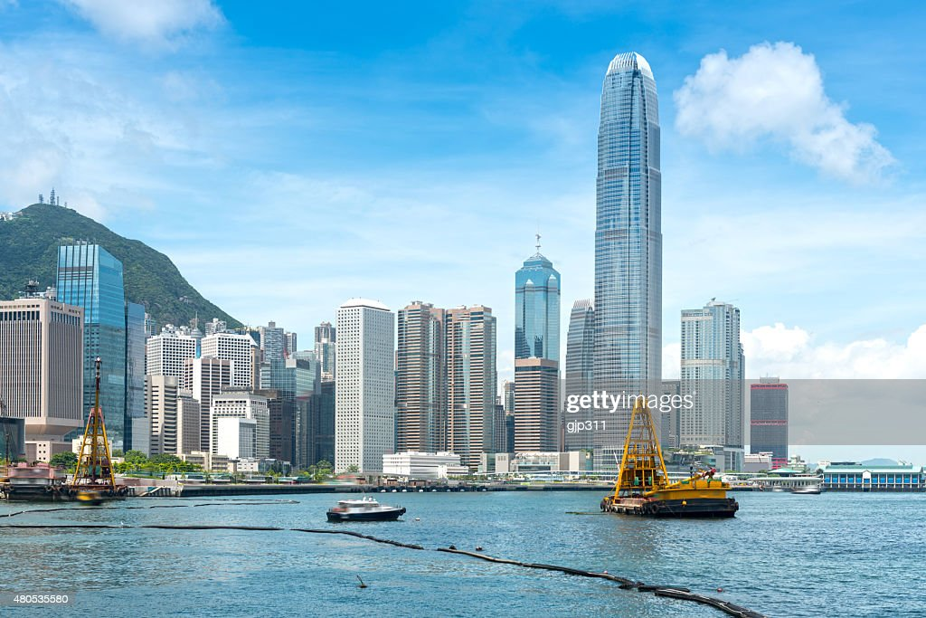 Hong Kong harbour : Stock Photo