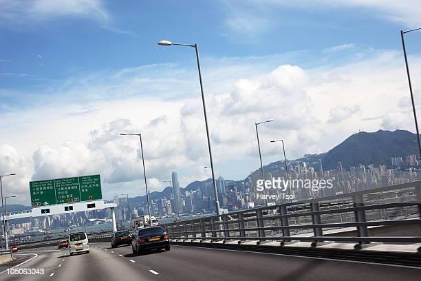 Hong Kong Highway and Cityscape