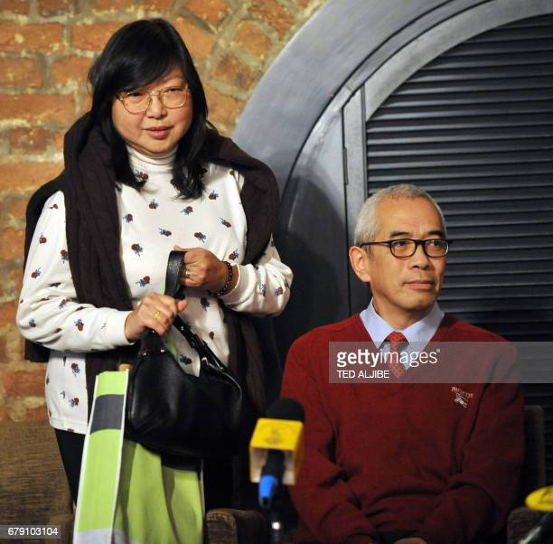Hong Kong journalist Ching Cheong who was freed from a Chinese prison this month sits prior to a press conference at the Foreign Correspondents Club...