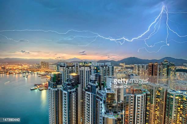 Hong Kong lightning storm