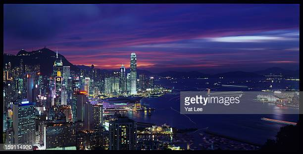 Hong Kong Magic Hour from Braemar Hill
