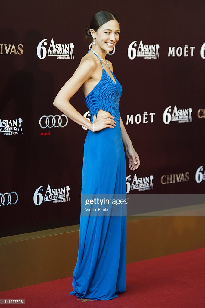 Hong Kong model Cara Grogan poses at the red carpet during the 6th Asian Film Awards, celebrating excellence in cinema, at Hong Kong Convention and Exhibition Center on 19 March 2012 in Hong Kong, China The event honours specifically filmmakers achievements in the field of Asian cinema, bringing together the best cinematic talent in Asia.