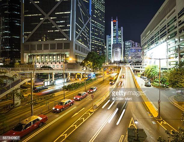 Hong Kong night rush