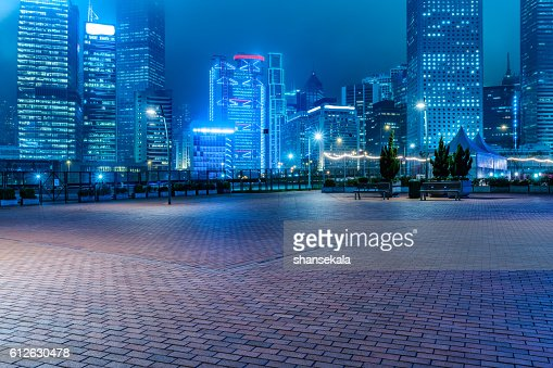 hong kong night scene : Stock Photo
