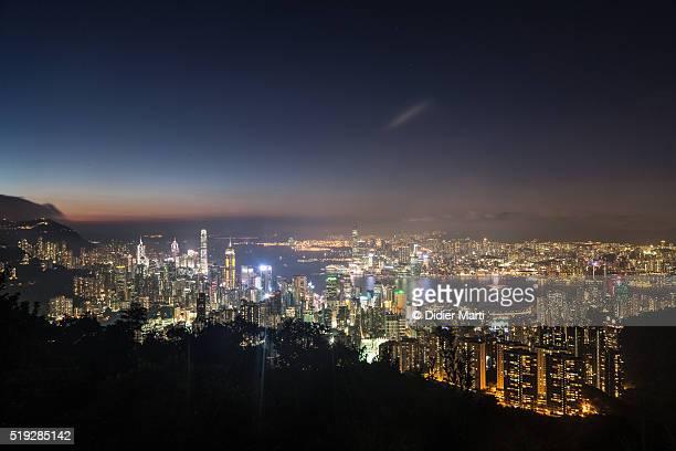 Hong Kong night view of Victoria Harbor