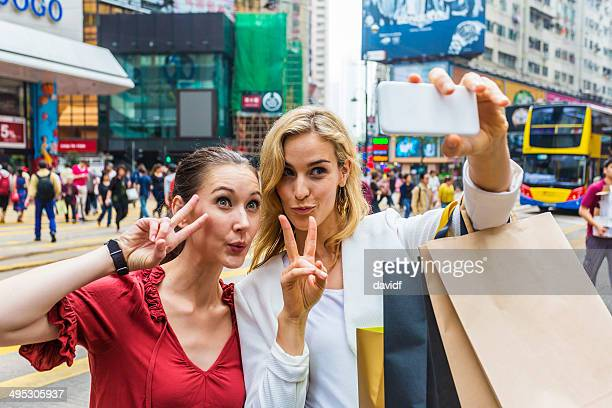 Hong Kong Peace Selfie Women