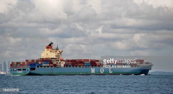A Hong Kong registered container vessel MOL Eminence sails through Singapore straits on November 29 2011 Morgan Stanley on November 28 further...