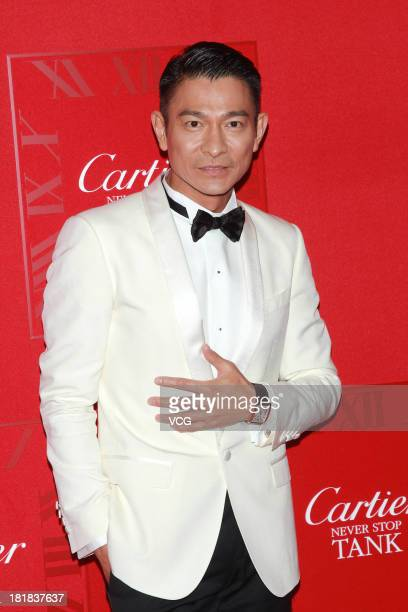 Hong Kong singer and actor Andy Lau attends press conference of Cartier at Hong Kong Convention and Exhibition Centre on September 25 2013 in Hong...