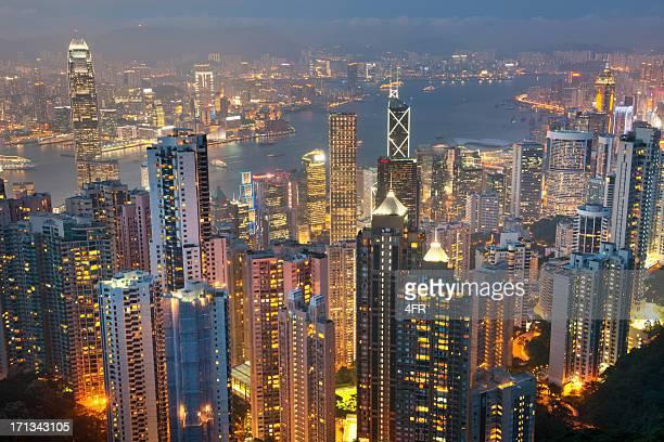 Hong Kong Skyline with Kowloon at Night (XXXL)