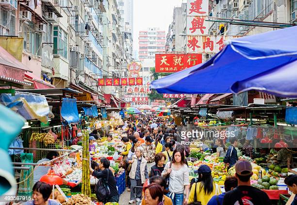 Hongkong Straßenmarkt