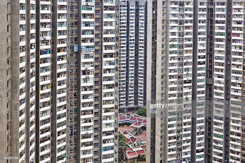 Hong Kong Tower Housing Estate : Stock Photo