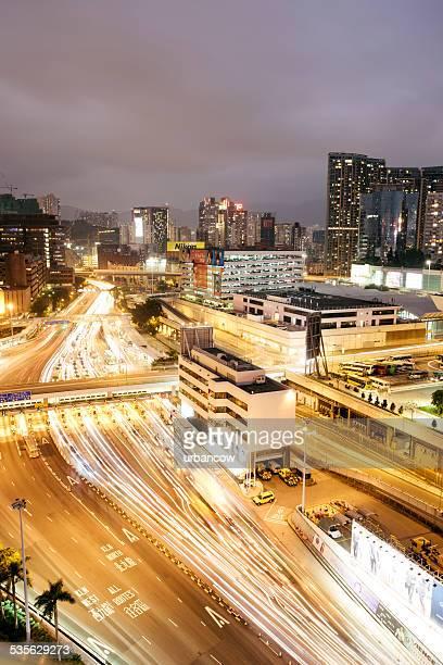 Circulation à Hong Kong et le péage, vue aérienne