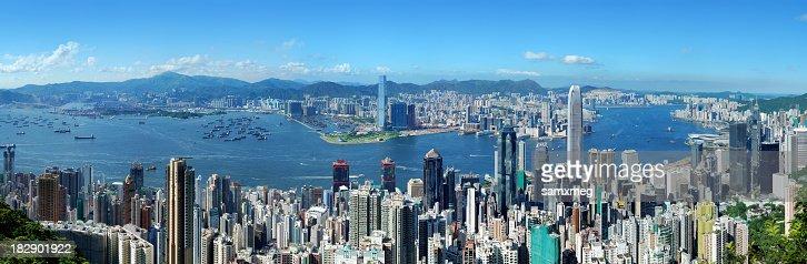 Hong Kong Victoria Harbor at Day