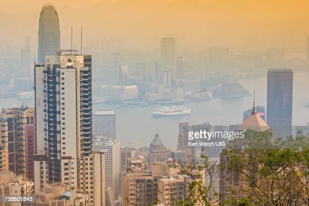 'Hong Kong, View across Victoria Harbor.'