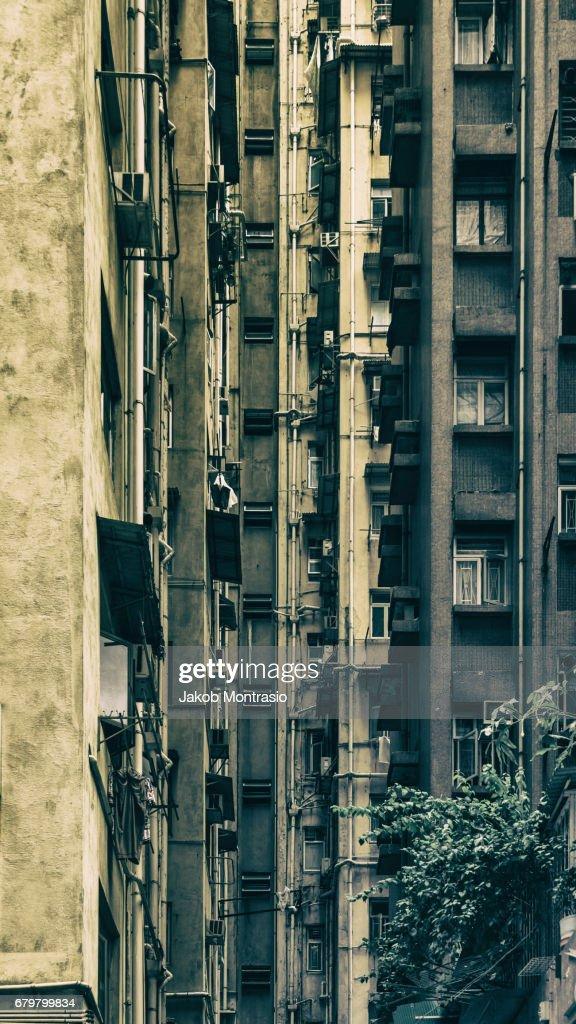 Hong Kong Walls : Stock Photo