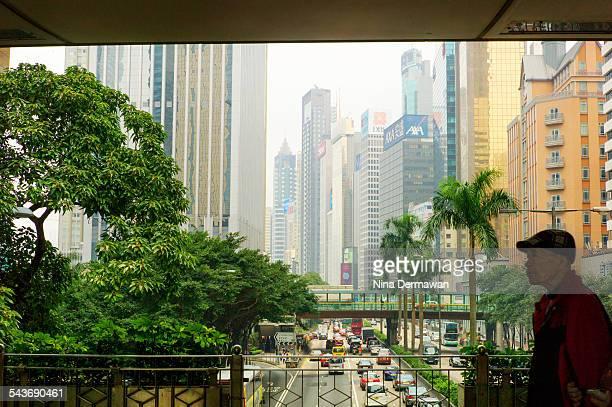 Hong Kong Wan Chai skyline